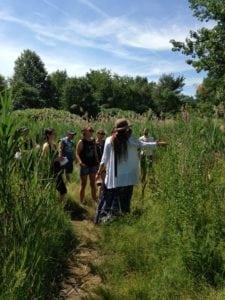 Katja leading an herb walk