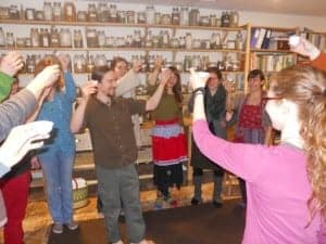 Toasting to our health with Fire Cider!