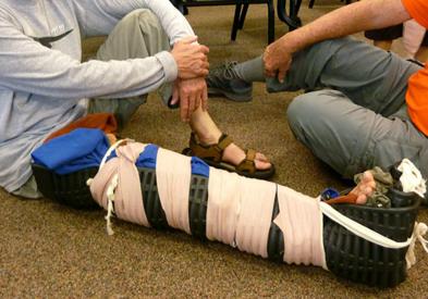 wrapped-leg